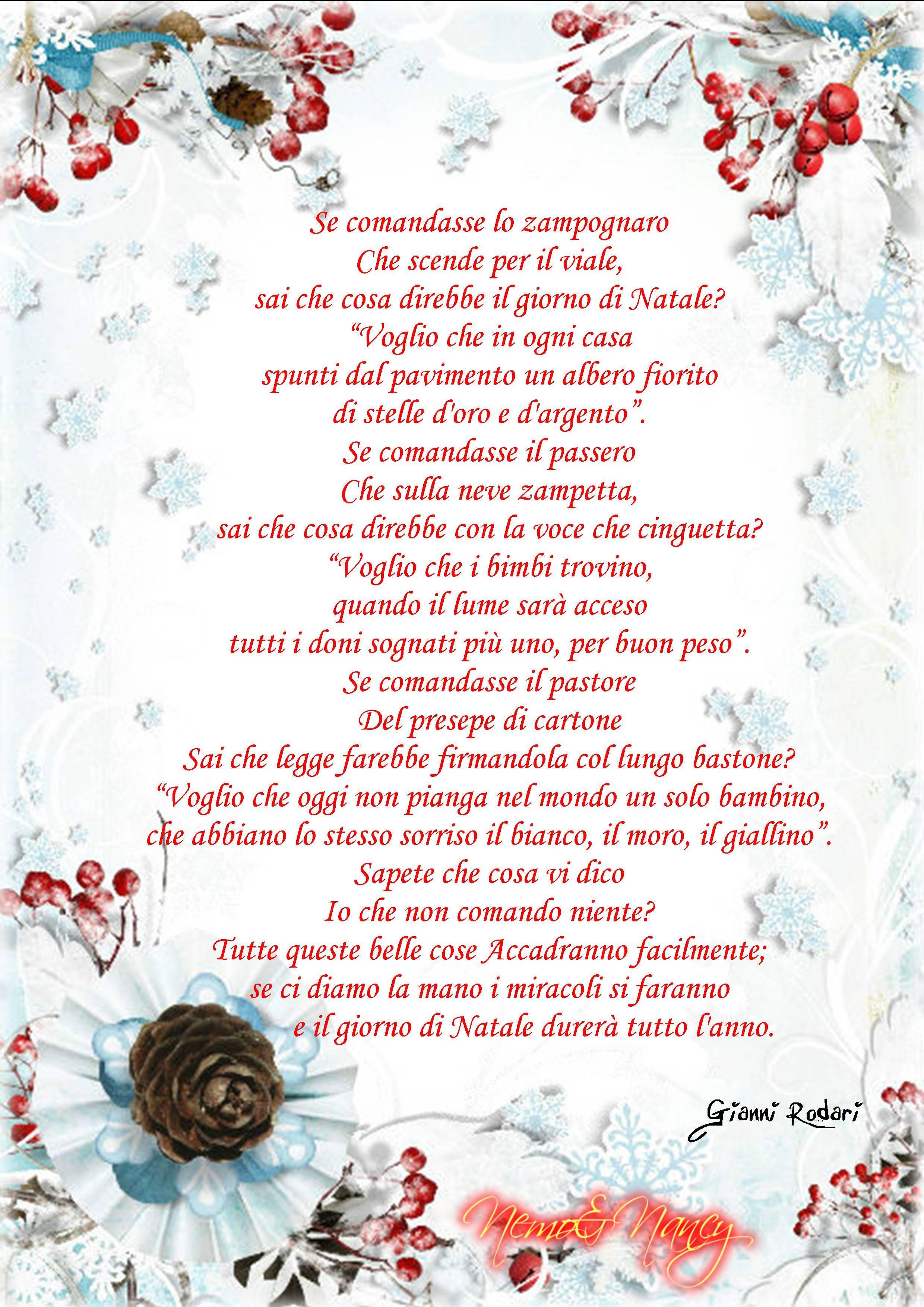 Poesia Natale Rodari.Un Regalo Per Voi Lo Zampognaro Gianni Rodari Nemoincucina