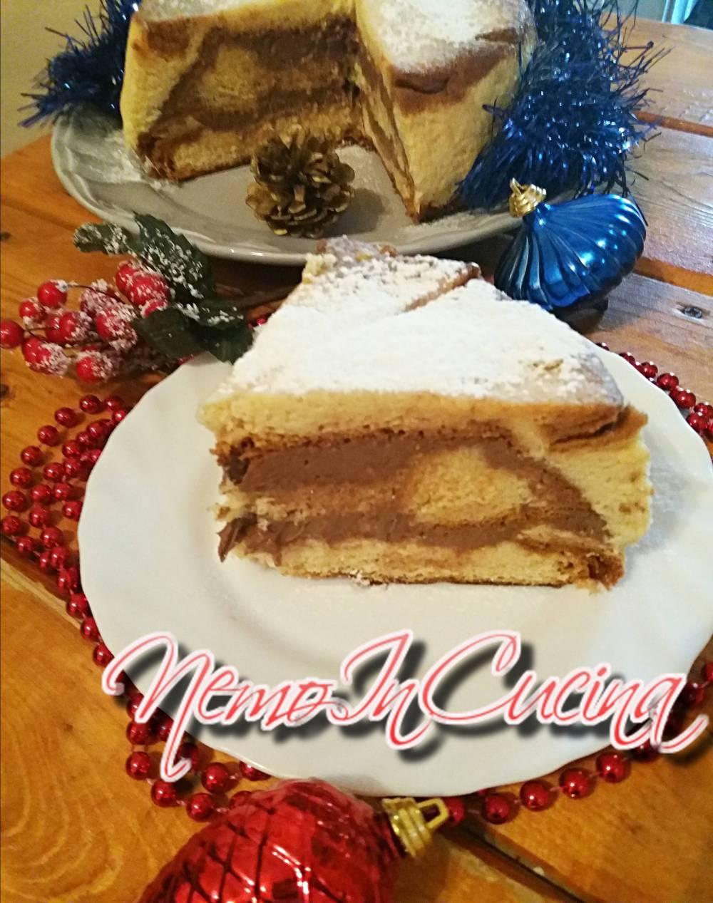 Torta Pandoro con crema al cioccolato2