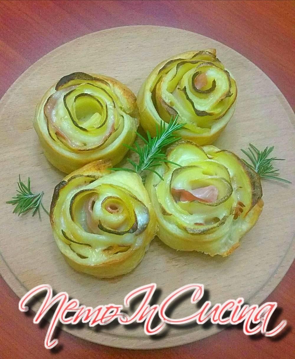 rosa di pasta sfoglia e patate2