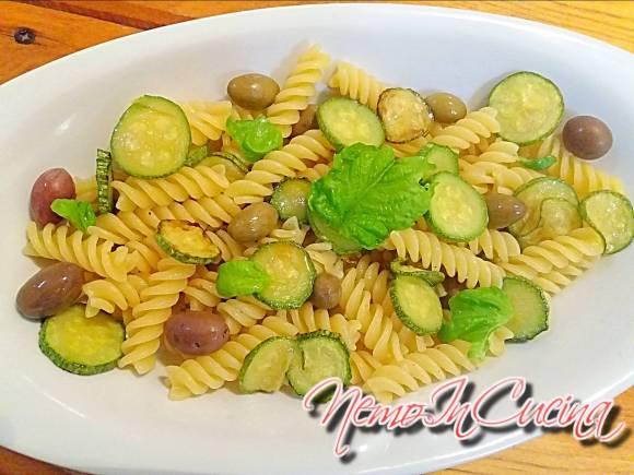 Fusilli con Zucchine e Olive