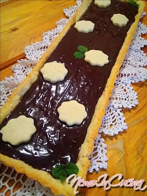 Crostata al cioccolato con brunoise di Pere2