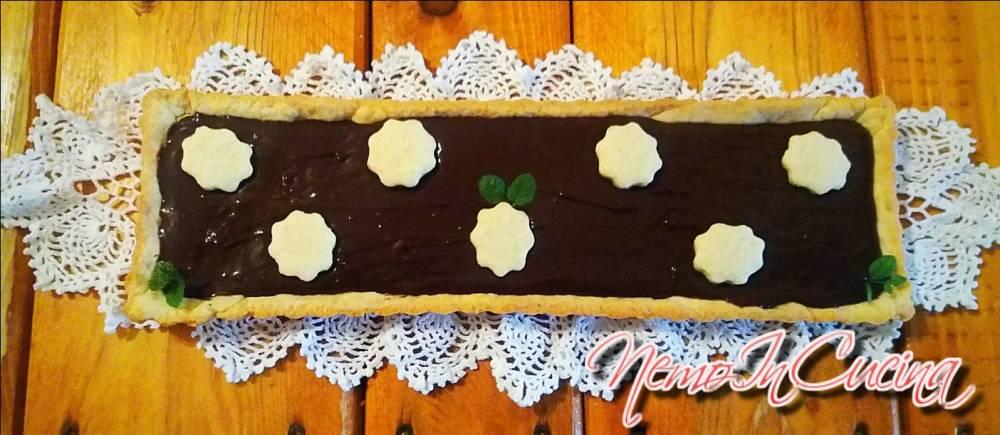 Crostata al cioccolato con brunoise di Pere3